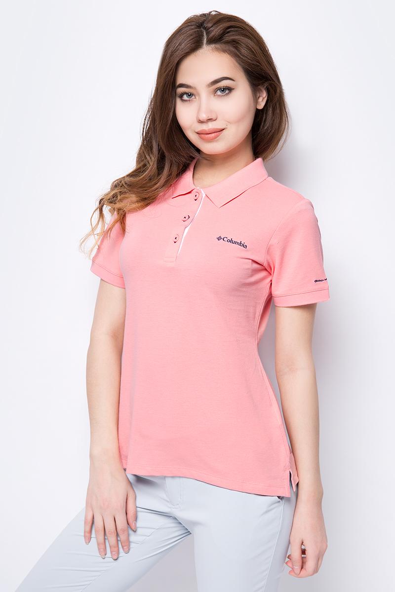 Поло женское Columbia Cascade Range Solid Polo W, цвет: розовый. 1715481-818. Размер XS (42) футболка поло columbia