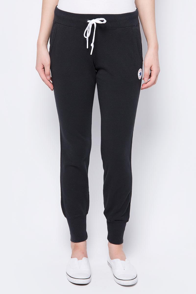 Брюки спортивные женские Converse Core Signature Pant - FT, цвет: черный. 10006449001. Размер XS (42) брюки спортивные женские adidas ess solid pant цвет серый s97160 размер xl 52 54