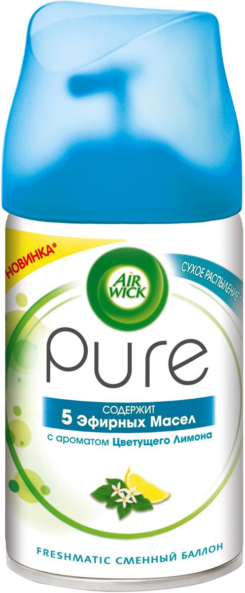 Освежитель воздуха AirWick Pure Цветущий Лимон, сменный баллон, 250 мл сменный баллон 5 эфирных масел цветущий лимон pure airwick 250 мл