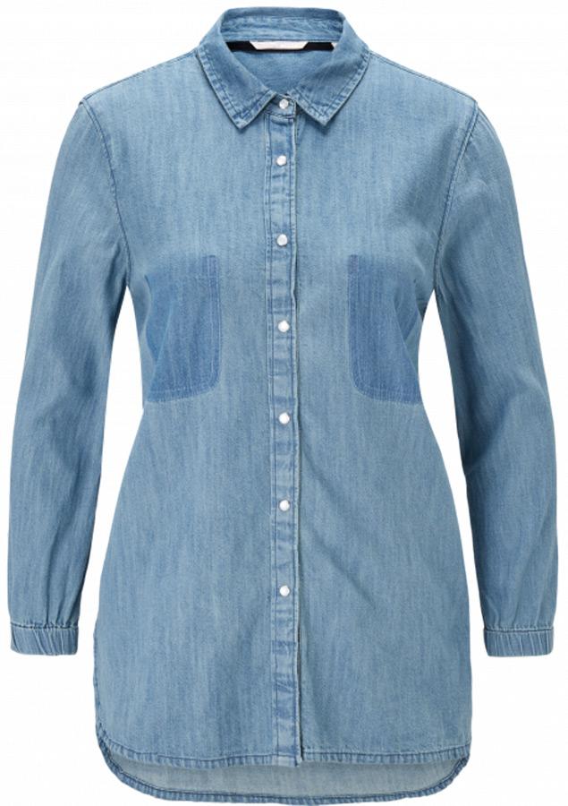 Купить Блузка женская Mustang Fancy Denim Blouse, цвет: синий. 1005092-5000-940. Размер 40 (46)
