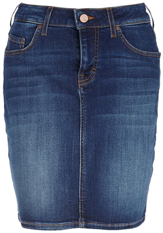 Юбка Mustang Laura Skirt, цвет: синий. 1005189-5000-882. Размер 31 (46/48) блуза mustang 1004395 5000 310