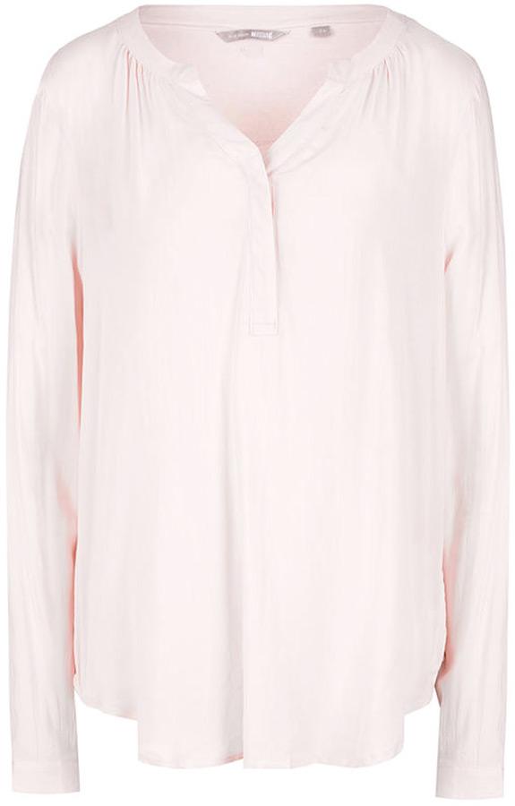 Блузка женская Mustang Modern Basic Blouse, цвет: розовый. 1005394-8024. Размер 44 (50) mustang блузка mustang 4969 4789 556 relaxed used wash