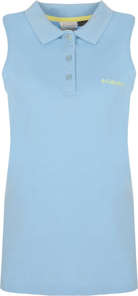 Поло женское Columbia Cascade Range SL Polo, цвет: голубой. 1772951-989. Размер XS (42) футболка поло columbia