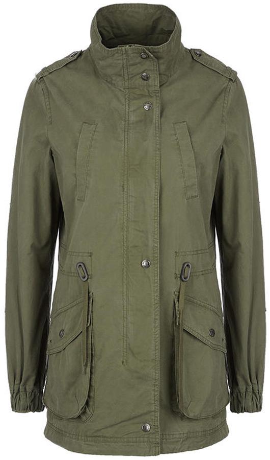Куртка женская Mustang Utility Parka, цвет: зеленый. 1005428-6421. Размер M (46)  - купить со скидкой