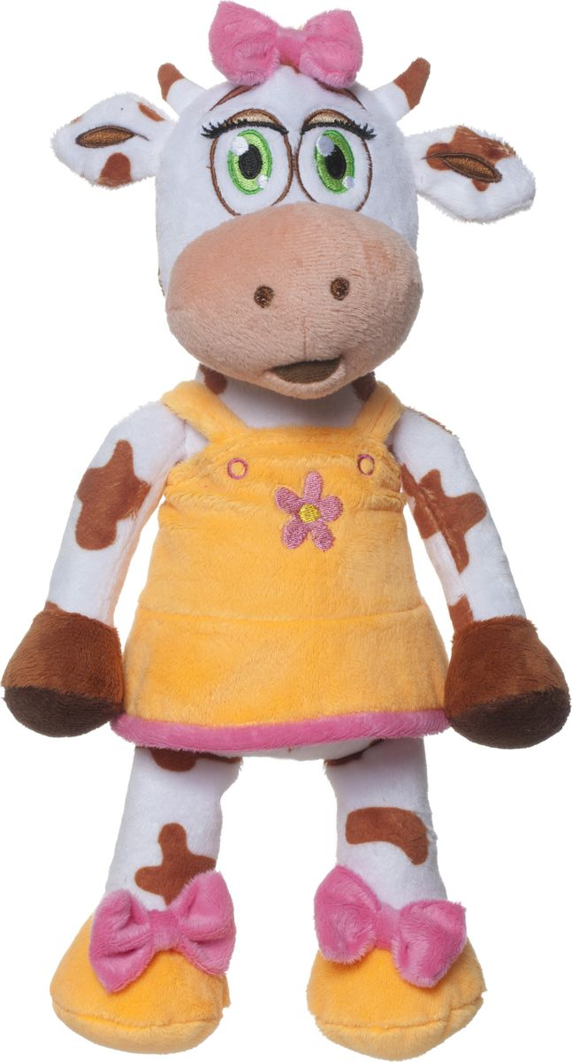 Comx Мягкая игрушка Корова Bella цвет оранжевый 32 см comx мягкая игрушка корова bella 32 см 5012