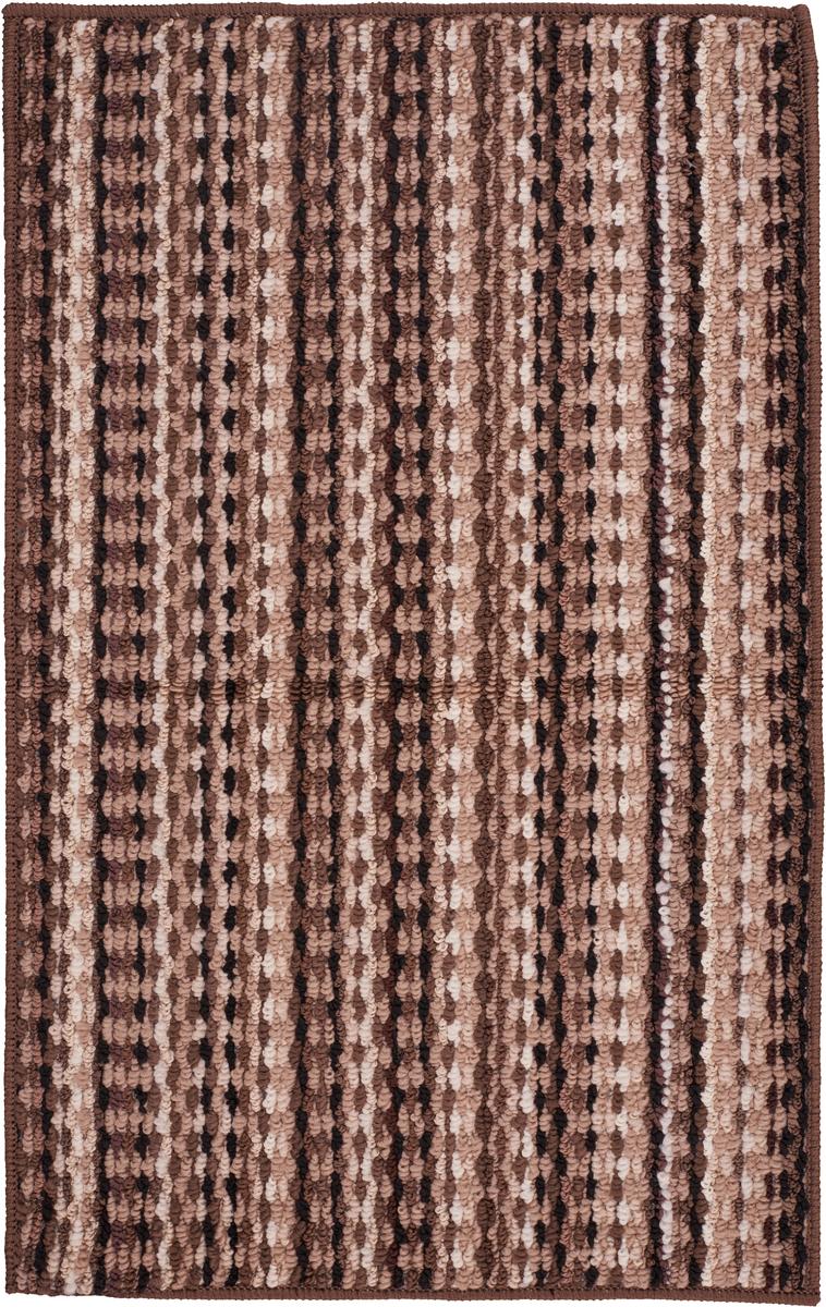 Коврик придверный Vortex Spark, цвет: коричневый, 50 х 80 см коврик придверный vortex листья 76 46 см