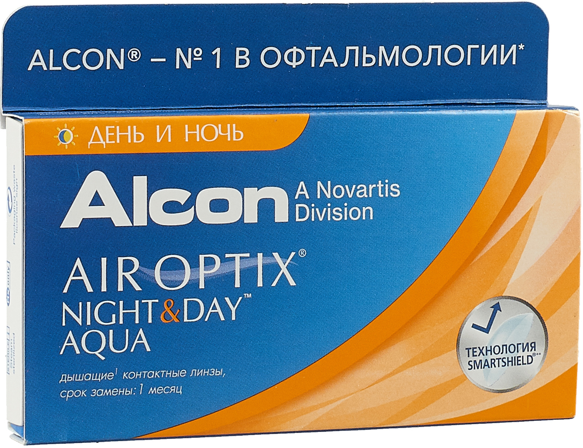 Alcon-CIBA Vision контактные линзы Air Optix Night & Day Aqua (3шт / 8.4 / -2.25)