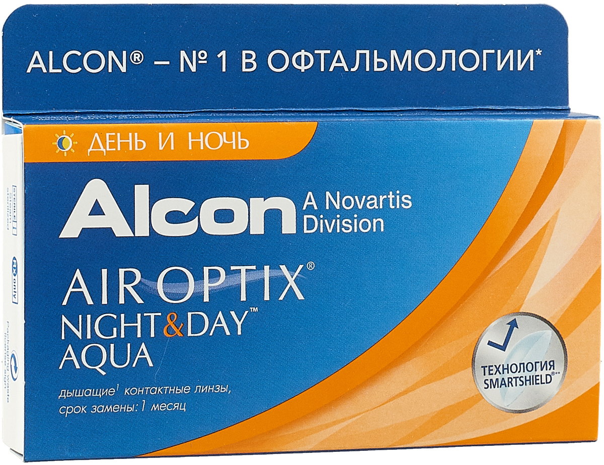 Alcon-CIBA Vision контактные линзы Air Optix Night & Day Aqua (3шт / 8.6 / -4.00)