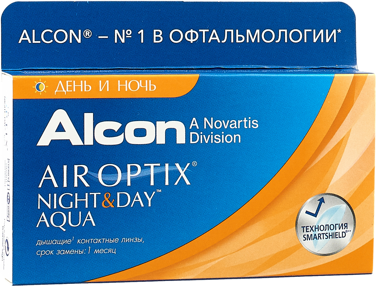 Alcon-CIBA Vision контактные линзы Air Optix Night & Day Aqua (3шт / 8.6 / -4.75)