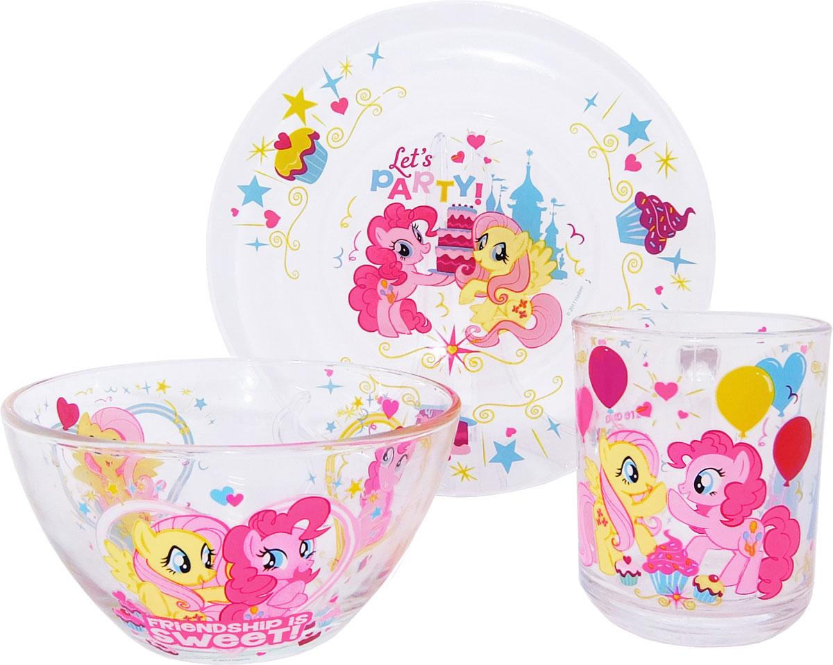 My Little Pony Набор детской посуды 3 предмета набор свечей my little pony с держатетелем 6 см 24 шт