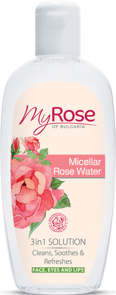 My Rose of Bulgaria Мицеллярная розовая вода Micellar Rose Water, 220 мл mock neck floral lace long sleeve dress