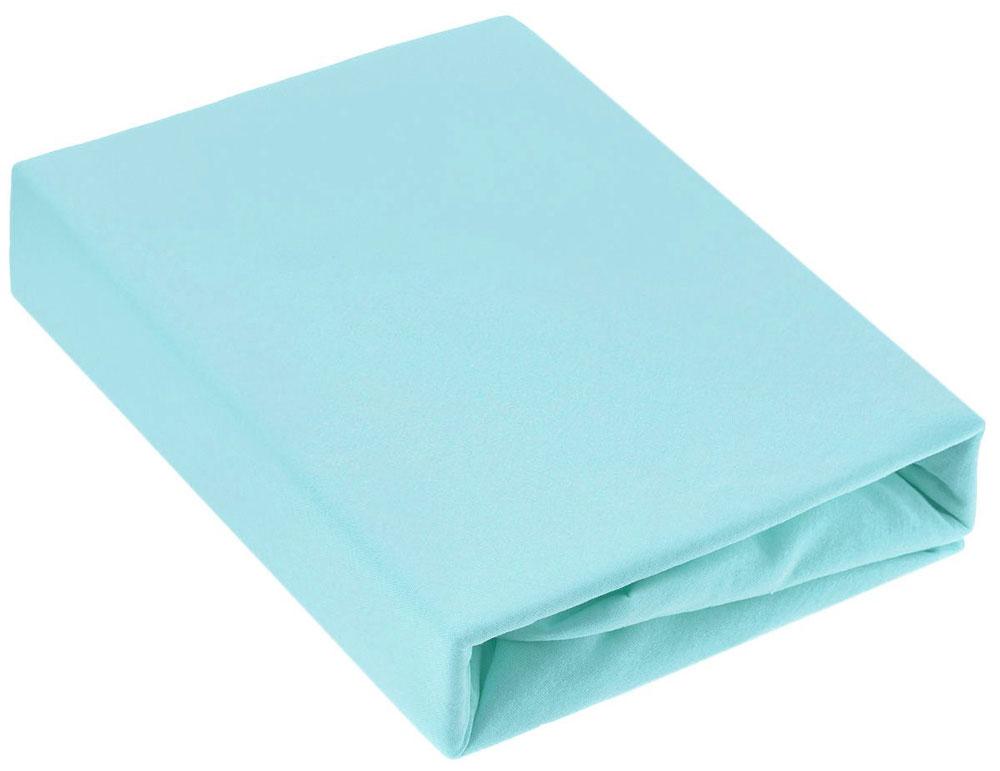 """Простыня на резинке """"ЭГО"""", цвет: голубой, 160 х 200 см"""