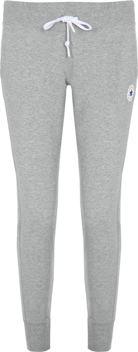 Брюки спортивные женские Converse Core Signature Pant - FT, цвет: серый. 10006449035. Размер XS (42) брюки спортивные женские adidas ess solid pant цвет серый s97160 размер l 48 50