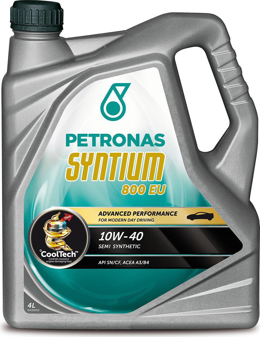 """Масло моторное Petronas """"Syntium 800 EU"""", полусинтетическое, 10W-40, 4 л"""