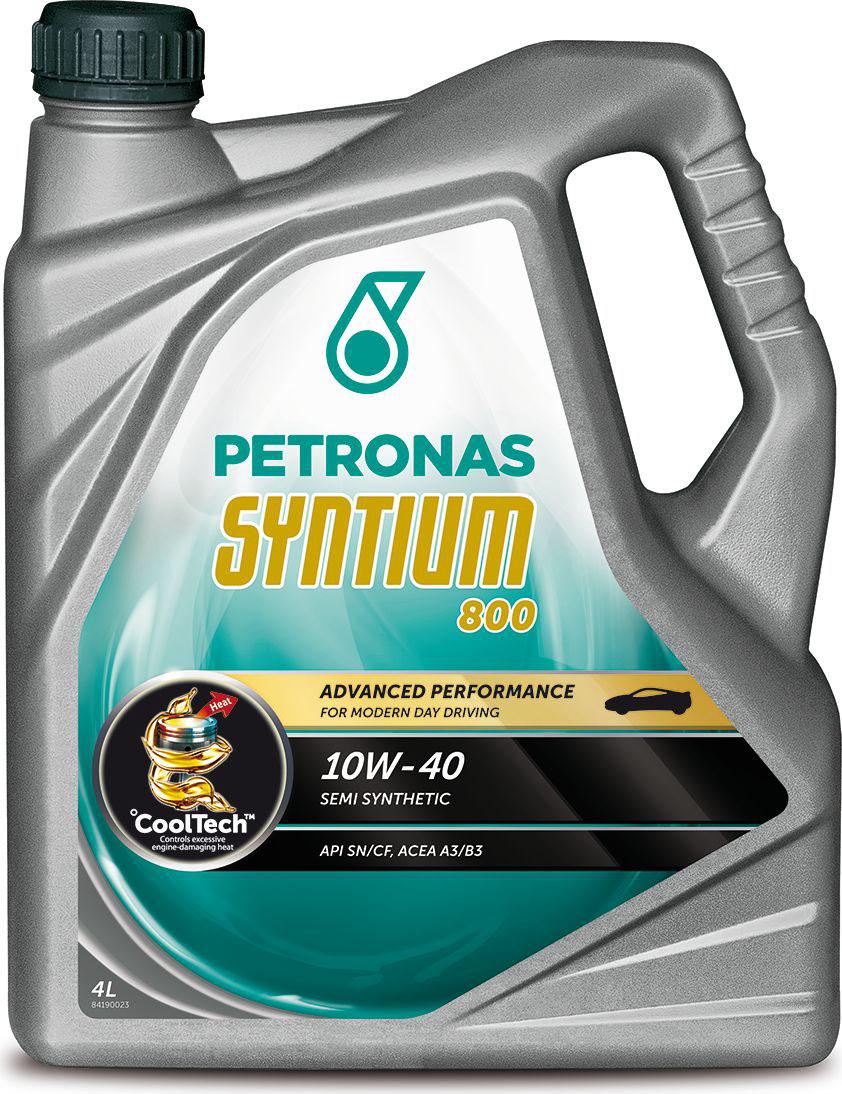 """Масло моторное Petronas """"Syntium 800"""", полусинтетическое, 10W-40, 4 л"""