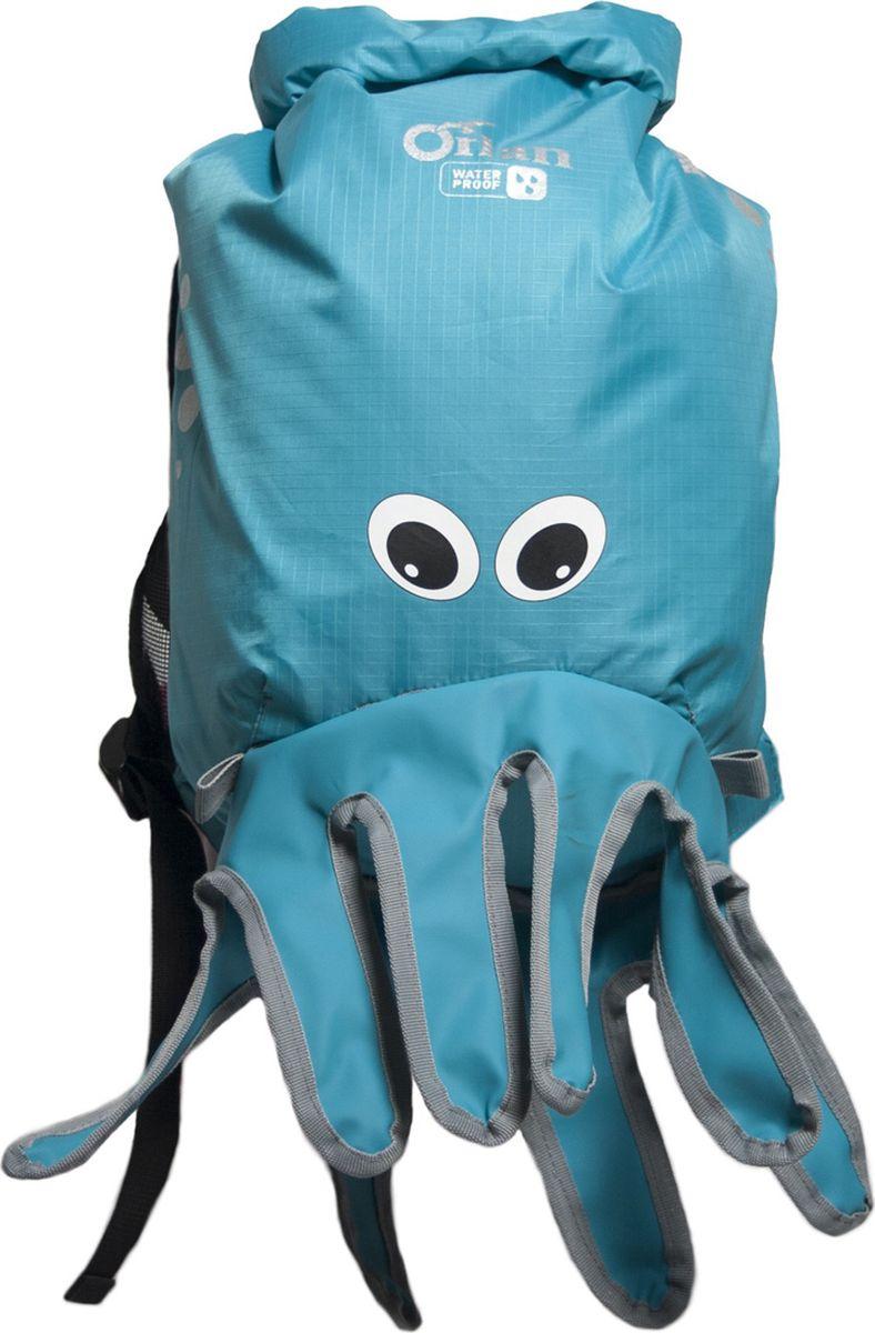 Герморюкзак Orlan Осьминог, детский, цвет: голубой, 10 лGR20T320B103L10OДетский влагозащитный герморюкзак «Осьминог» незаменим на пляже и в бассейне. С ним ваш ребенок не останется незамеченным. Идеально для детей от 3-х лет.Детский герморюкзак «Осьминог» изготовлен из прочной легкой ткани с водозащитной пропиткой PU 3000. Все швы изделия загерметизированы, что обеспечивает защиту детских вещей от воды, пыли и грязи. Спинка рюкзака выполнена из сетки итолько частично зафиксирована к основному объему рюкзака. Это обеспечивает отличную вентиляцию, не дает песку налипать на рюкзак. Широкие лямки с регулировкой удобно фиксируют рюкзак на спине ребенка. Орнамент рюкзака выполнен световозвращающей краской, а плечевые лямки отделаны световозвращающей лентой, для безопасности вашегоребенка на дороге.Используемые материалы: Рюкзак: Лёгкая и прочная ткань Oxford 3000 PU. Вставки: Литой ПВХ.