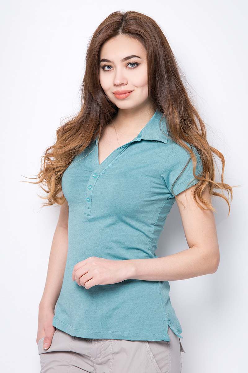 Поло женское Columbia Shadow Time Polo, цвет: бирюзовый. 1492661-732. Размер XL (50) футболка поло columbia