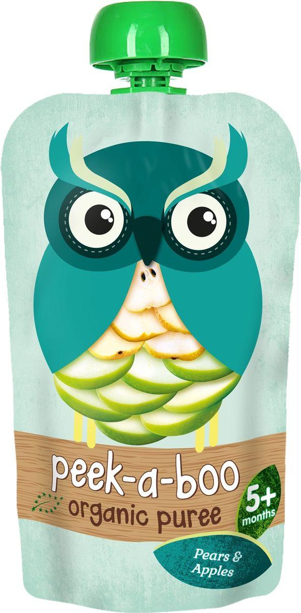 Peek-a-boo пюре органическое яблоко, груша, с 4 месяцев, 113 г цена