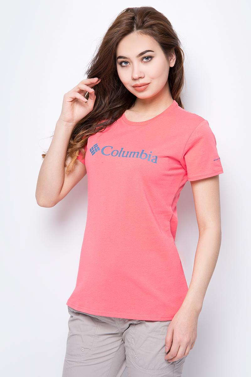 Купить Футболка женская Columbia Urban Hike SS, цвет: розовый. 1770391-614. Размер S (44)