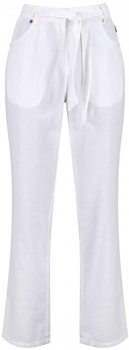 Брюки женские Regatta Quinetta Trouser, цвет: белый. RWJ198-900. Размер 12 (44/46)RWJ198-900Брюки от Regatta выполнены из ткани Coolweave. Стиранное изделие для дополнительного смягчения. Внутренний пояс с рисунком. Пояс на талии. Два кармана по бокам, два задних кармана. Брюки в поясе застегиваются на пуговицу и имеют ширинку на молнии.