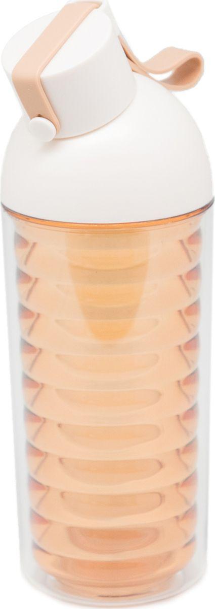 Бутылка Еж-стайл Nod Shaped, цвет: коричневый, 370 мл0909180В бутылочке Еж Стайл можно носить с собой воду или другие напитки в офис, на учебу, на занятия спортом и прогулки - в деловой сумке или спортивной, и везде она будет выглядеть уместно.