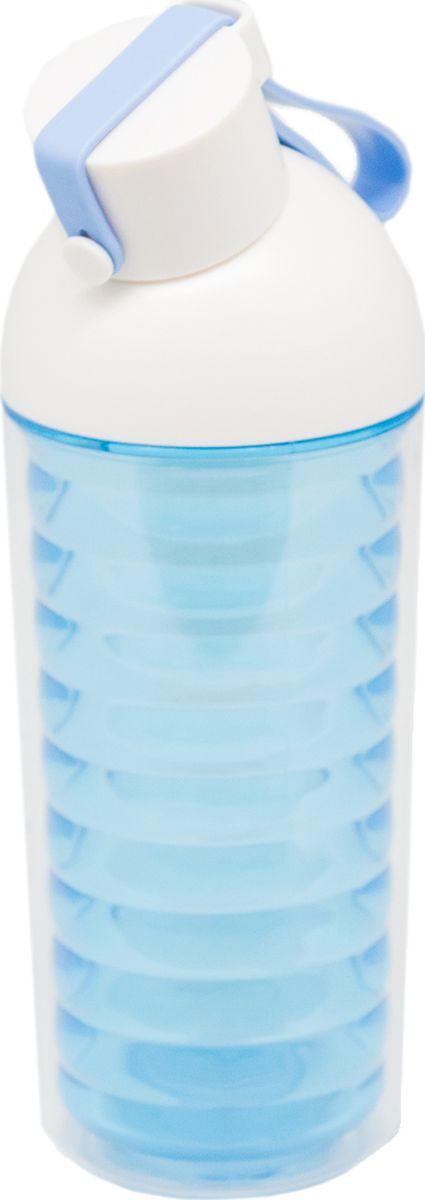 Бутылка Еж-стайл Nod Shaped, цвет: синий, 370 мл0909181В бутылочке Еж Стайл можно носить с собой воду или другие напитки в офис, на учебу, на занятия спортом и прогулки - в деловой сумке или спортивной, и везде она будет выглядеть уместно.