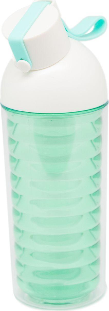 Бутылка Еж-стайл Nod Shaped, цвет: зеленый, 370 мл0909183В бутылочке Еж Стайл можно носить с собой воду или другие напитки в офис, на учебу, на занятия спортом и прогулки - в деловой сумке или спортивной, и везде она будет выглядеть уместно.