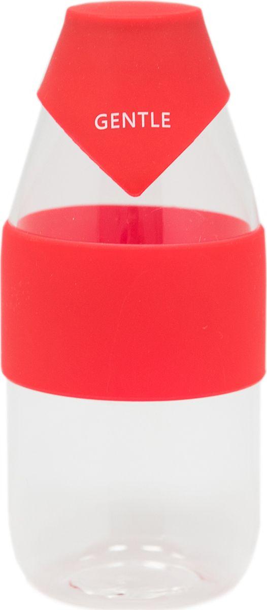 Бутылка Еж-стайл Gentle, цвет: красный, 390 мл0909202В бутылочке Еж Стайл можно носить с собой воду или другие напитки в офис, на учебу, на занятия спортом и прогулки - в деловой сумке или спортивной, и везде она будет выглядеть уместно.