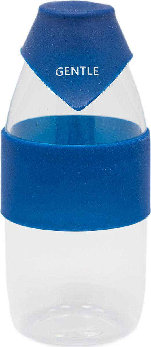 Бутылка Еж-стайл Gentle, цвет: синий, 390 мл0909204В бутылочке Еж Стайл можно носить с собой воду или другие напитки в офис, на учебу, на занятия спортом и прогулки - в деловой сумке или спортивной, и везде она будет выглядеть уместно.