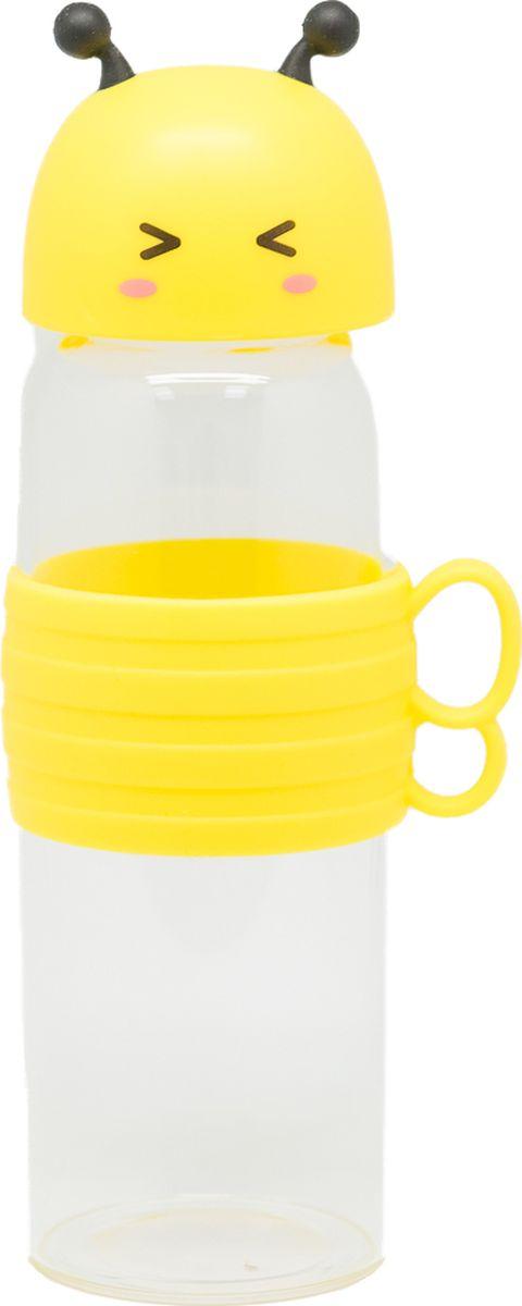 Бутылка Еж-стайл Bee, цвет: желтый, 480 мл0909214В бутылочке Еж Стайл можно носить с собой воду или другие напитки в офис, на учебу, на занятия спортом и прогулки - в деловой сумке или спортивной, и везде она будет выглядеть уместно.