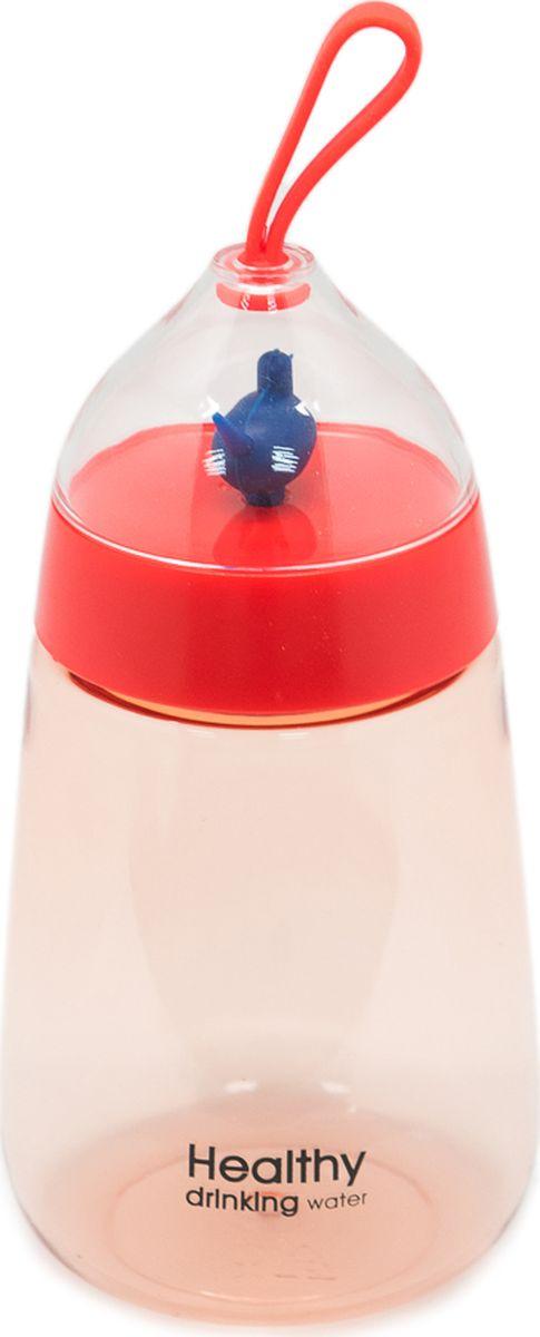 Бутылка Еж-стайл Healthy Duck, цвет: красный, 400 мл0909218В бутылочке Еж Стайл можно носить с собой воду или другие напитки в офис, на учебу, на занятия спортом и прогулки - в деловой сумке или спортивной, и везде она будет выглядеть уместно.