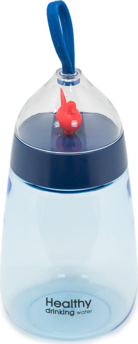 Бутылка Еж-стайл Healthy Duck, цвет: синий, 400 мл0909219В бутылочке Еж Стайл можно носить с собой воду или другие напитки в офис, на учебу, на занятия спортом и прогулки - в деловой сумке или спортивной, и везде она будет выглядеть уместно.