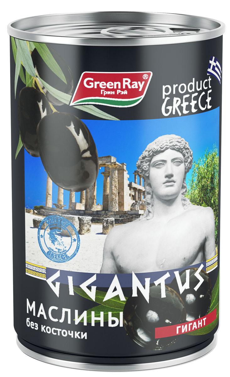 Green Ray Маслины Гигант б/к, 425 мл маслины без косточки принцесса вкуса 300 мл