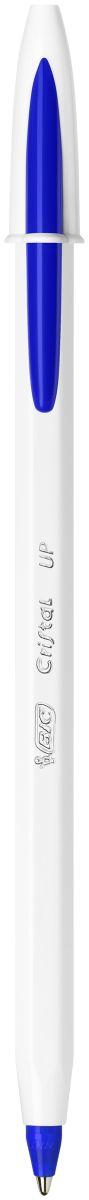BIC Ручка шариковая Cristal Up цвет чернил синийB949879Ручка BIC Cristal Up в ярком исполнении - это мягкое и яркое письмо с системой скользящих чернил. Ручка имеет оригинальное оформление корпуса. Цвет колпачка и наконечника соответствует цвету чернил. Серебристые буквы на корпусе обеспечивают более премиальный вид ручки.
