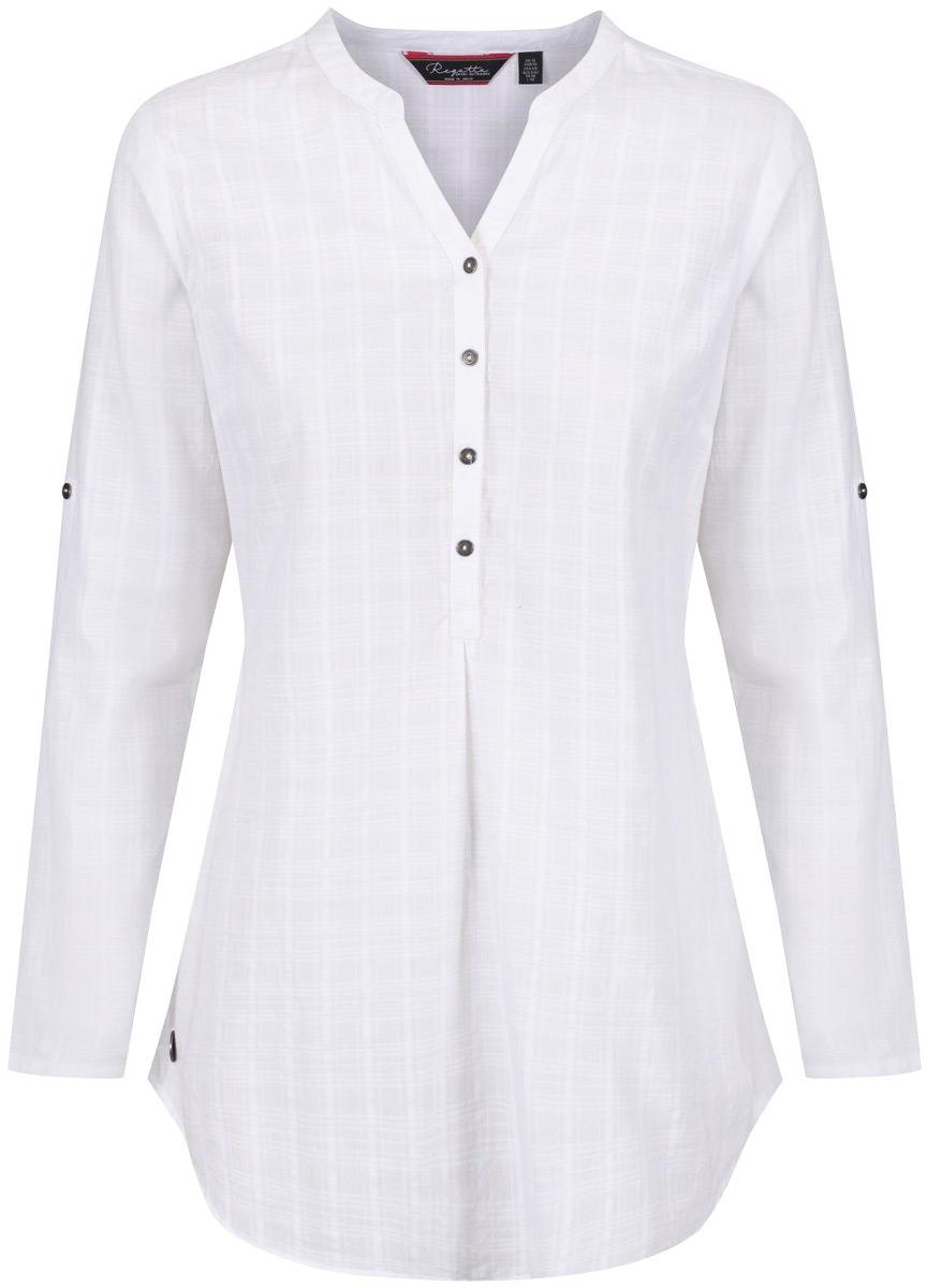 Рубашка женская Regatta Mackayla, цвет: белый. RWS077-2TA. Размер 10 (42/44)