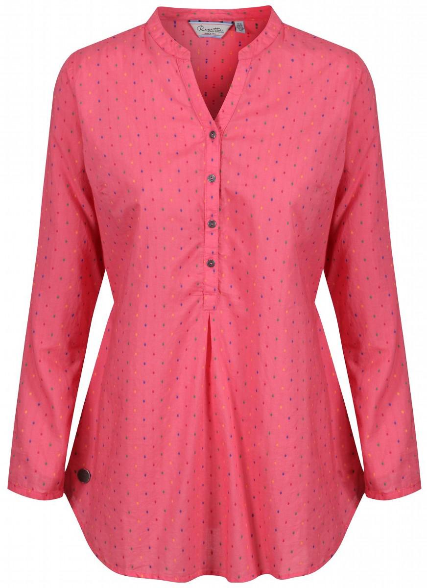 Рубашка женская Regatta Mackayla, цвет: светло-коралловый. RWS077-7ZK. Размер 16 (48/50)