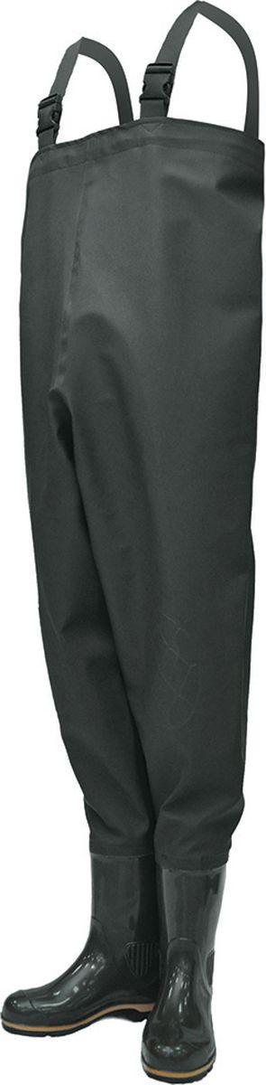 Полукомбинезон рыбацкий мужской Nordman Z, с расширенным голенищем, цвет: оливковый. ps_15_3_pk-081-42. Размер 42ps_15_3_pk-081-42Рыбацкий мужской полукомбинезон Nordman Z имеет текстильный верх, выполненный из легкой водонепроницаемой ПВХ-ткани (винитол). Крепится к базовому сапогу на современном итальянском оборудовании при помощи сварки током высокой частоты, что гарантирует абсолютную водонепроницаемость. Дополнительно применяется технология двойного шва, которая придает обуви еще большую прочность, износостойкость и герметичность. Внутренний карман для хранения мелких предметов создает дополнительное удобство на рыбалке. Для легкого и быстрого снятия полукомбинезона приспособлены удобные и качественнее карабины.