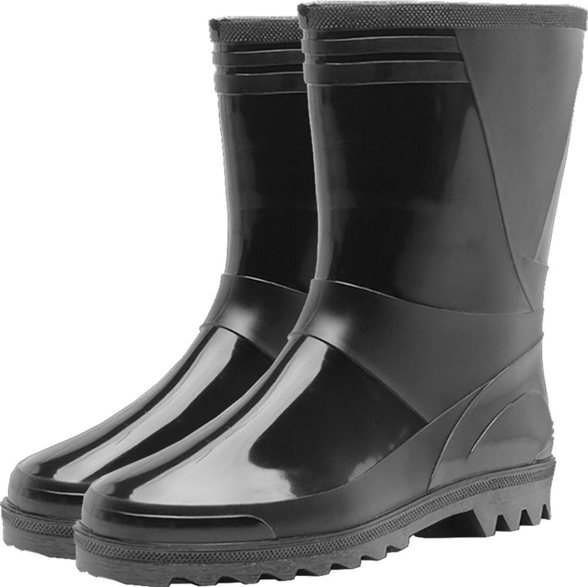 Сапоги мужские Дюна, цвет: черный. 140-901-00. Размер 45 huili мужские дождевые сапоги водонепроницаемая противоскользящая непромокаемая обувь