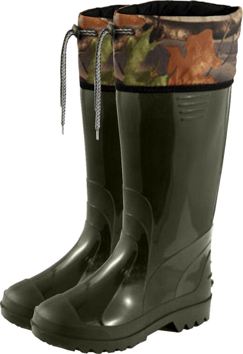 Сапоги мужские Дюна, с надставкой, цвет: оливковый. 171-081-46. Размер 46