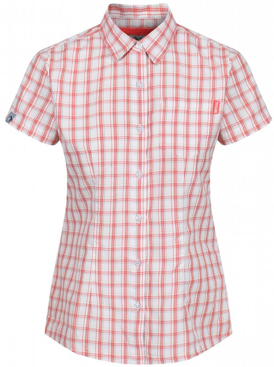 Рубашка женская Regatta Wmns Mindano III, цвет: оранжевый. RWS087-6QM. Размер 12 (44/46)RWS087-6QMРубашка от Regatta выполнена из полиэстера с добавлением вискозы. Хорошо отводит влагу. Быстросохнущий материал. Рубашка с короткими рукавами и отложным воротником спереди застегивается на пуговицы. Lifestyle Fit - стильный образ на каждый день.