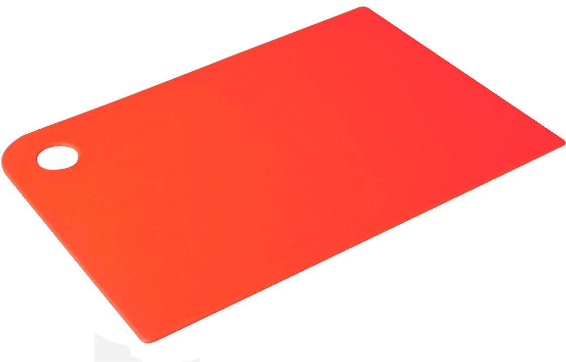 Доска разделочная Plast Team Grosten, цвет: красный, прямоугольная, 24,7 х 17,5 х 0,5 см контейнер пищевой plast team bico цвет лайм с крышкой 600 мл