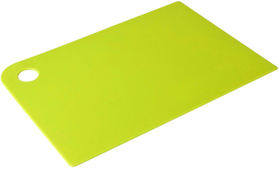 """Доска разделочная Plast Team """"Grosten"""", цвет: лайм, прямоугольная, 34,5 х 24,5 х 0,5 см"""