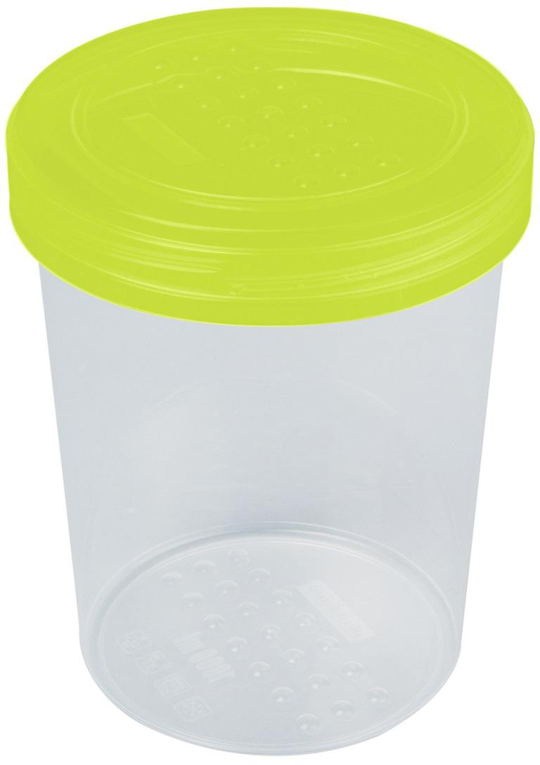 Банка для сыпучих продуктов Plast Team Pattern, цвет: лайм, 1 л