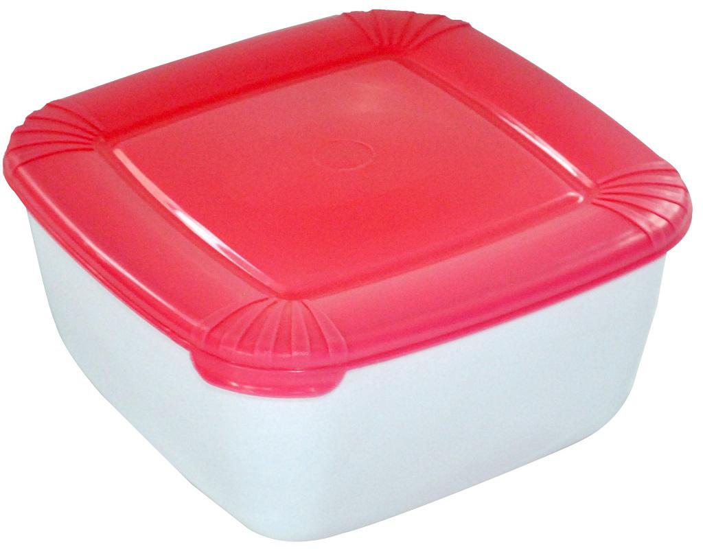 Контейнер пищевой Plast Team Polar, цвет: коралловый, 2,5 л контейнер пищевой plast team polar цвет лайм 1 5 л