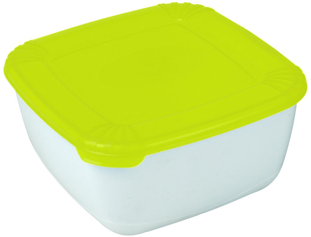 Контейнер пищевой Plast Team Polar, цвет: лайм, 2,5 л контейнер пищевой plast team bico цвет лайм с крышкой 600 мл