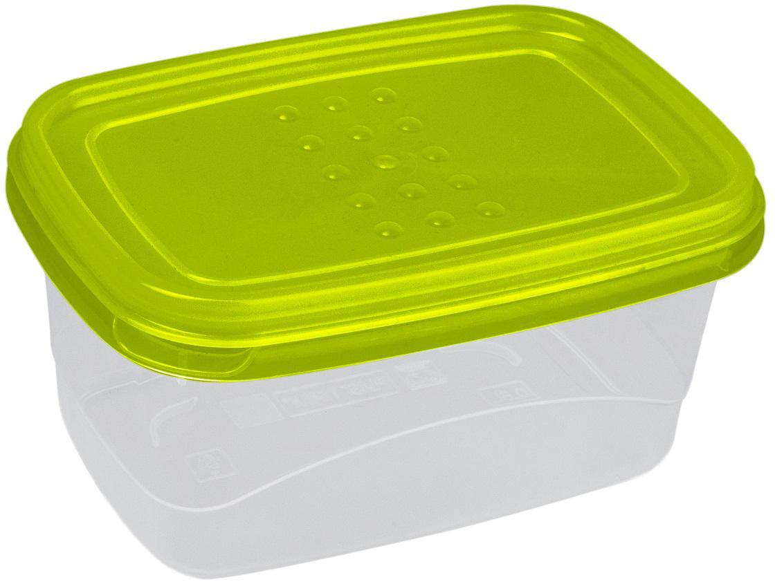 Контейнер пищевой Plast Team Pattern Flex, цвет: лайм, 600 мл контейнер пищевой plast team bico цвет лайм с крышкой 1 3 л