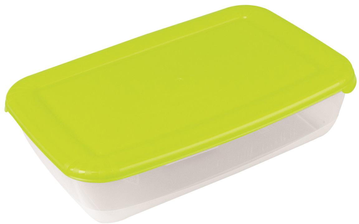 Контейнер пищевой Plast Team Polar, цвет: лайм, 3 л, 29,5 х 19,5 х 7,5 смPT1673ЛАЙМ-10РNУниверсальные качественные контейнеры предназначены для хранения в холодильнике и морозилке, разогрева в СВЧ (не более 3-х минут, при открытой крышке). Благодаря покрытию шагрень на верхней плоскости крышки контейнер удобно держать в руках и контейнеры надежно устанавливаются друг на друга.