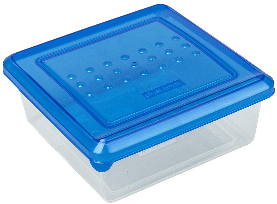 Контейнер пищевой Plast Team Pattern, квадратный, цвет: голубой, 500 млPT1096ГПР-26РNЛегкая, прочная емкость предназначена для хранения продуктов, заморозки, разогревания в СВЧ, переноски обедов. Уникальный узор в виде пузырьков решает несколько задач: не скользят в руках; емкости одинаковой формы надежно устанавливаются друг на друга; приятные, тактильные ощущения от прикосновения.Использовать в СВЧ только для разогрева пищи (не более 3-х минут), при открытой крышке.
