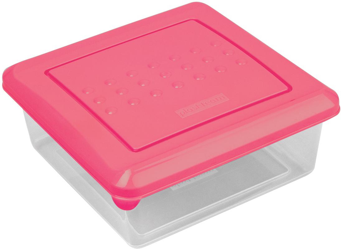 Контейнер пищевой Plast Team Pattern, квадратный, цвет: коралловый, 500 млPT1096КОРАЛ-26РNЛегкая, прочная емкость предназначена для хранения продуктов, заморозки, разогревания в СВЧ, переноски обедов. Уникальный узор в виде пузырьков решает несколько задач: не скользят в руках, емкости одинаковой формы надежно устанавливаются друг на друга приятные, тактильные ощущения от прикосновения. Использовать в СВЧ только для разогрева пищи (не более 3-х минут), при открытой крышке.