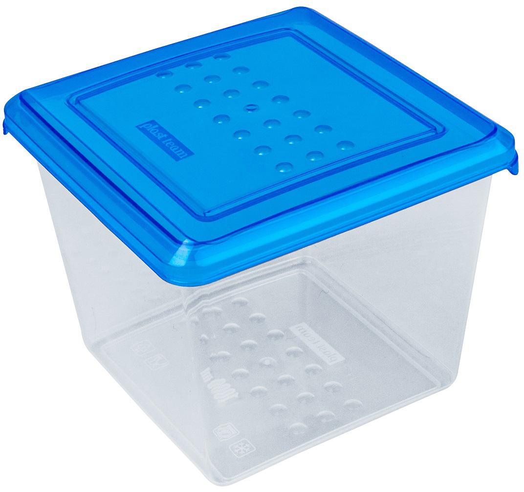 Контейнер пищевой Plast Team Pattern, цвет: голубой, прозрачный, 1 лPT1097ГПР-20РNЛегкая, прочная емкость предназначена для хранения продуктов, заморозки, разогревания в СВЧ, переноски обедов. Уникальный узор в виде пузырьков решает несколько задач: не скользят в руках; емкости одинаковой формы надежно устанавливаются друг на друга; приятные, тактильные ощущения от прикосновения.Использовать в СВЧ только для разогрева пищи (не более 3-х минут), при открытой крышке.